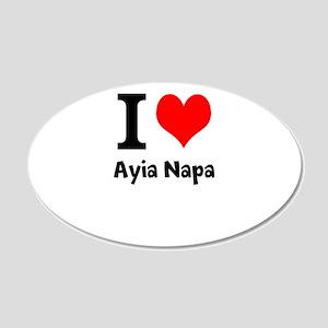 I love Ayia Napa Wall Sticker