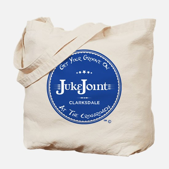 Clarksdale Juke Joint - Blue Label Design Tote Bag