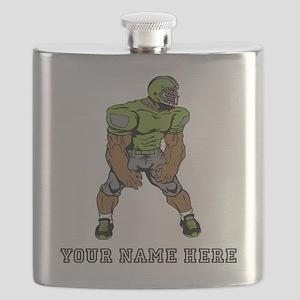 Custom Football Linebacker Flask