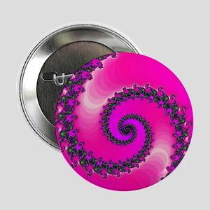 """Pink Fractal Art 2.25"""" Button"""