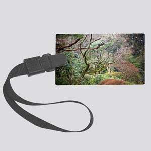 wet garden details Large Luggage Tag