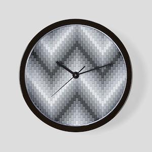 Gray Herringbone Wall Clock