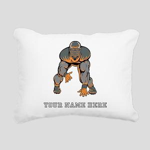 Custom Defensive Lineman Rectangular Canvas Pillow