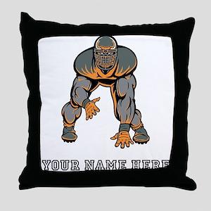 Custom Defensive Lineman Throw Pillow