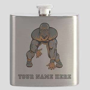 Custom Defensive Lineman Flask
