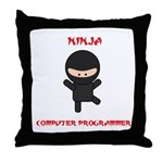 Ninja Computer Programmer Throw Pillow