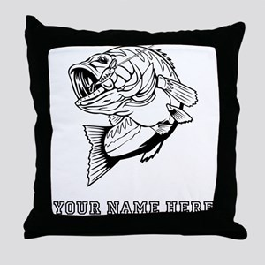 Custom Bass Throw Pillow