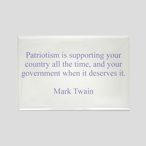 Mark Twain Patriotism Rectangle Magnet