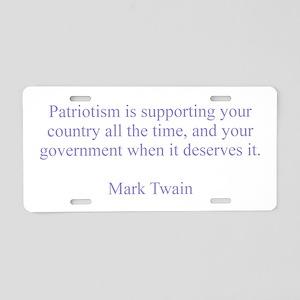 Mark Twain Patriotism Aluminum License Plate
