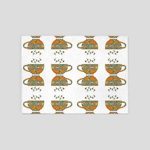 tea cups 5'x7'Area Rug