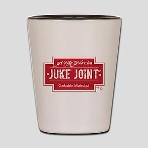 Clarksdale Juke Joint - Red Cross Design Shot Glas