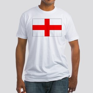 Flag of England 4 Fitted T-Shirt