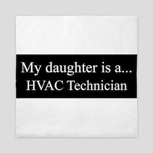 Daughter - HVAC Technician Queen Duvet