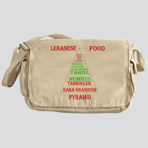 Lebanese Food Pyramid Messenger Bag