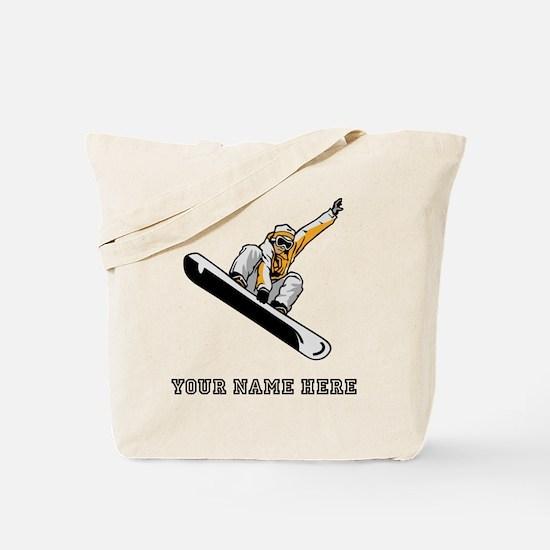 Custom Extreme Snowboarder Tote Bag