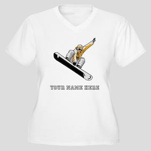 Custom Extreme Snowboarder Plus Size T-Shirt