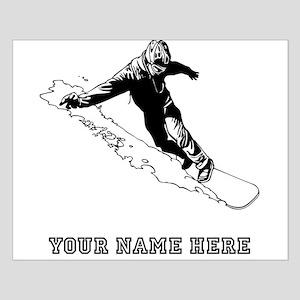 Custom Downhill Snowboarder Posters