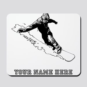 Custom Downhill Snowboarder Mousepad