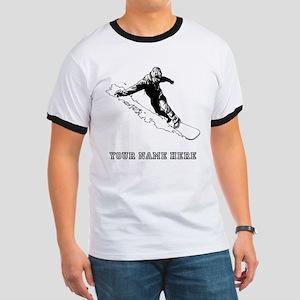 Custom Downhill Snowboarder T-Shirt