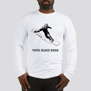 Custom Downhill Snowboarder Long Sleeve T-Shirt