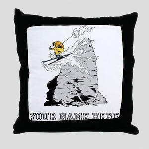 Custom Extreme Skier Throw Pillow