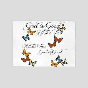 God is Good- Butterflies 5'x7'Area Rug