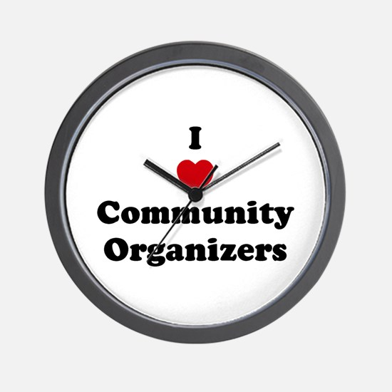 I Love Community Organizers Wall Clock