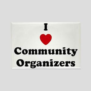 I Love Community Organizers Rectangle Magnet