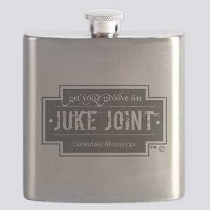Clarksdale Juke Joint - Charcoal Cross Design Flas