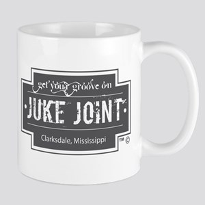 Clarksdale Juke Joint - Charcoal Cross Design Mugs