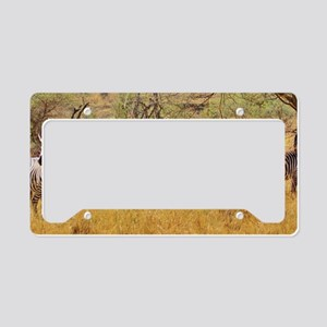 Wild Zebra Animal License Plate Holder