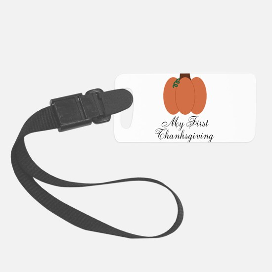 My First Thanksgiving Pumpkin Luggage Tag