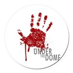 UNDER THE DOME Handprint Round Car Magnet