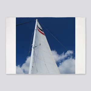 Sailboat Sail 5'x7'Area Rug