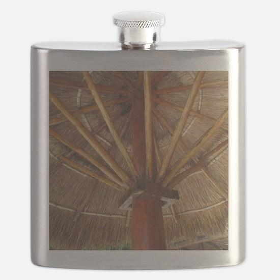 Tiki Umbrella Flask