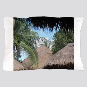 Tropical Beach Scene Pillow Case