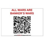 All Wars are Bankers wars QR Posters
