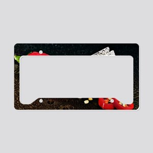 Peperoni Style License Plate Holder