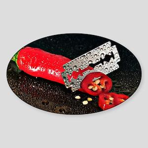 Peperoni Style Sticker (Oval)