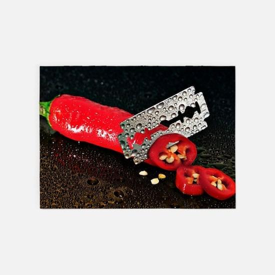 Peperoni Style 5'x7'Area Rug