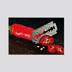 Peperoni Style Rectangle Magnet
