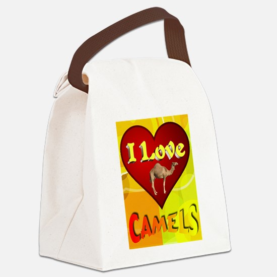 I Love Camels Canvas Lunch Bag