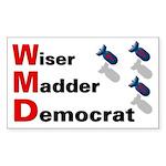 WMD Wiser Madder Democrat 3x5 Sticker