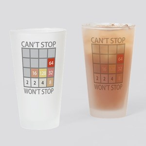 2048 game Drinking Glass