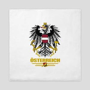 Austria COA (Flag 10) Queen Duvet