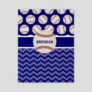 Baseball Blue Personalized Twin Duvet