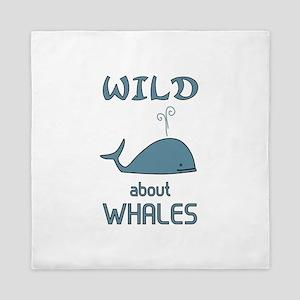 Wild About Whales Queen Duvet
