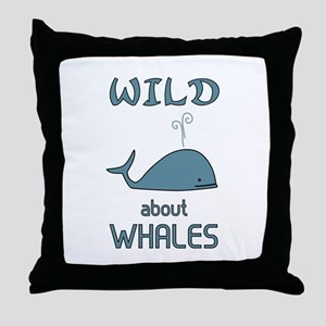 Wild About Whales Throw Pillow