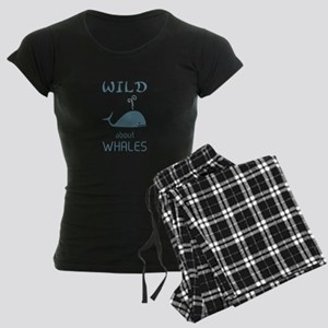 Wild About Whales Women's Dark Pajamas