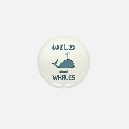 Wild About Whales Mini Button